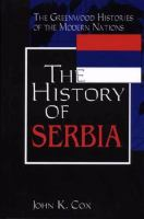 History of Serbia book cover